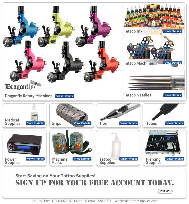 Tattoo Supplies At Wholesale Prices