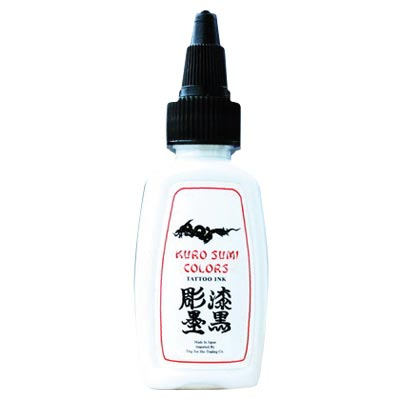 Kuro sumi samurai white tattoo ink wholesale for Cheap tattoo ink