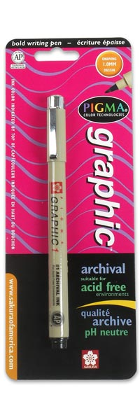 Pigma Graphic 1, bullet tip, 1.0 mm - BLACK ink