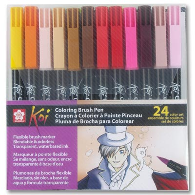 Koi Coloring Brush - 24 piece / Color Set