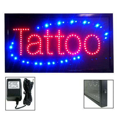 L.E.D. Tattoo Shop Sign